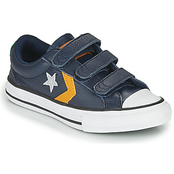 kengät Lapset Matalavartiset tennarit Converse STAR PLAYER 3V - LEATHER TWIST Blue / Sinappi