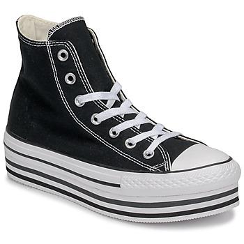 kengät Naiset Korkeavartiset tennarit Converse CHUCK TAYLOR ALL STAR PLATFORM EVA LAYER CANVAS HI Musta