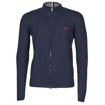 vaatteet Miehet Neuleet / Villatakit U.S Polo Assn. INSTITUTIONAL ZIP KNIT Blue