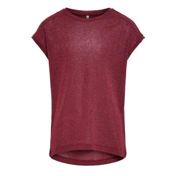 vaatteet Tytöt Lyhythihainen t-paita Only KONSILVERY Viininpunainen