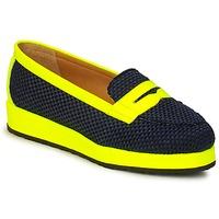 kengät Naiset Mokkasiinit MySuelly VALENTINE Black / Yellow
