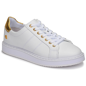 kengät Naiset Matalavartiset tennarit Lauren Ralph Lauren ANGELINE II White / Kulta