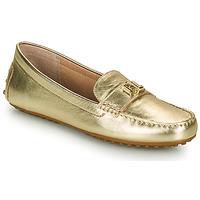 kengät Naiset Mokkasiinit Lauren Ralph Lauren BARNSBURY FLATS CASUAL Kulta