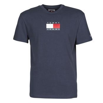 vaatteet Miehet Lyhythihainen t-paita Tommy Jeans TJM SMALL FLAG TEE Laivastonsininen