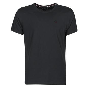 vaatteet Miehet Lyhythihainen t-paita Tommy Jeans TJM ORIGINAL JERSEY TEE Musta