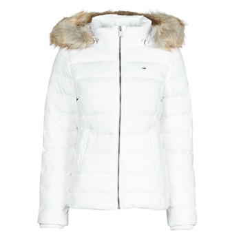 vaatteet Naiset Toppatakki Tommy Jeans TJW BASIC HOODED DOWN JACKET White