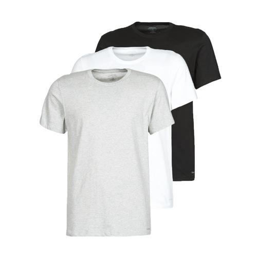 vaatteet Miehet Lyhythihainen t-paita Calvin Klein Jeans CREW NECK 3PACK Harmaa / Musta / Valkoinen