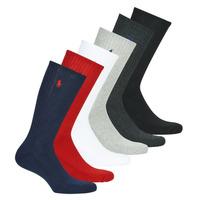 Asusteet / tarvikkeet Miehet Sukat Polo Ralph Lauren ASX110 6 PACK COTTON Musta / Punainen / Laivastonsininen / Harmaa / Harmaa / Valkoine