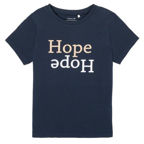 vaatteet Tytöt Lyhythihainen t-paita Name it NKFFRANSESKA Laivastonsininen