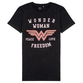 vaatteet Tytöt Lyhythihainen t-paita Name it NKFWONDERWOMEN Black