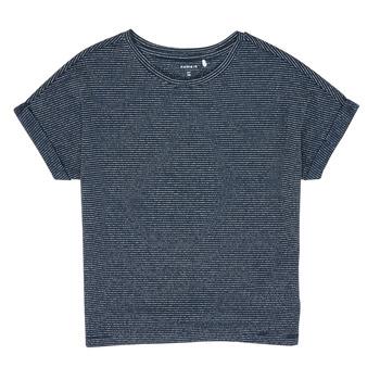 vaatteet Tytöt Lyhythihainen t-paita Name it NKFKYRRA Laivastonsininen