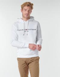 vaatteet Miehet Svetari Tommy Hilfiger TOMMY LOGO HOODY Valkoinen