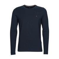 vaatteet Miehet T-paidat pitkillä hihoilla Tommy Hilfiger STRETCH SLIM FIT LONG SLEEVE TEE Black