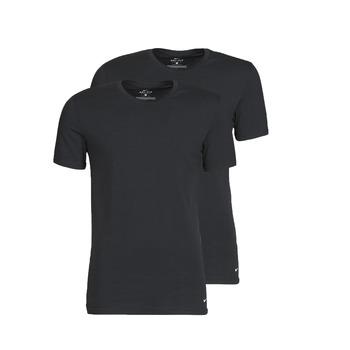 vaatteet Miehet Lyhythihainen t-paita Nike EVERYDAY COTTON STRETCH Musta