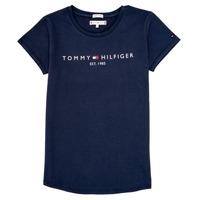 vaatteet Tytöt Lyhythihainen t-paita Tommy Hilfiger KG0KG05242-C87 Laivastonsininen