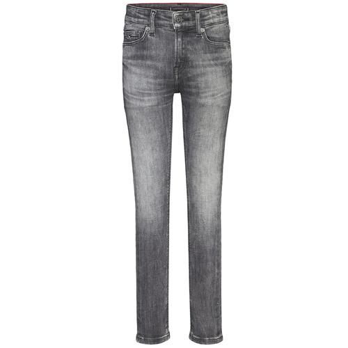 vaatteet Pojat Skinny-farkut Tommy Hilfiger SIMON SUPER SKINNY Grey