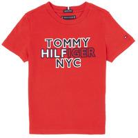 vaatteet Pojat Lyhythihainen t-paita Tommy Hilfiger KB0KB05848-XNL Red