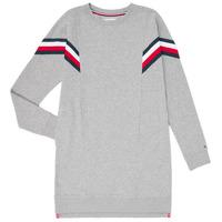 vaatteet Tytöt Lyhyt mekko Tommy Hilfiger KG0KG05283-P6U Harmaa