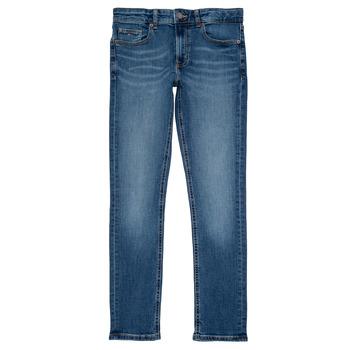 vaatteet Pojat Slim-farkut Tommy Hilfiger SCANTON SLIM Blue