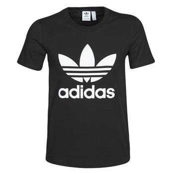 vaatteet Naiset Lyhythihainen t-paita adidas Originals TREFOIL TEE Black