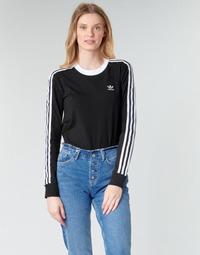 vaatteet Naiset T-paidat pitkillä hihoilla adidas Originals 3 STR LS Black