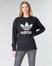 vaatteet Naiset Svetari adidas Originals TRF CREW SWEAT Black