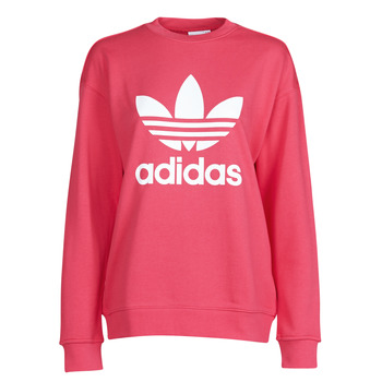 vaatteet Naiset Svetari adidas Originals TRF CREW SWEAT Vaaleanpunainen