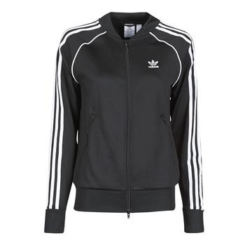 vaatteet Naiset Ulkoilutakki adidas Originals SST TRACKTOP PB Musta