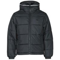 vaatteet Miehet Toppatakki adidas Originals PAD HOODED PUFF Musta