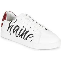 kengät Naiset Matalavartiset tennarit Bons baisers de Paname SIMONE AMOUR/HAINE Valkoinen