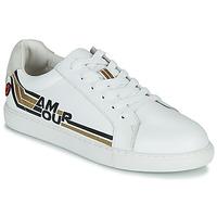 kengät Naiset Matalavartiset tennarit Bons baisers de Paname SIMONE AMOUR RETRO Valkoinen / Kulta