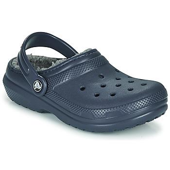 kengät Lapset Puukengät Crocs CLASSIC LINED CLOG K Sininen