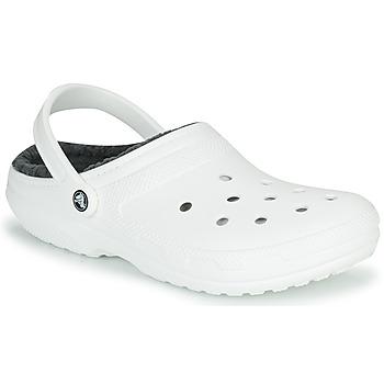kengät Puukengät Crocs CLASSIC LINED CLOG Valkoinen