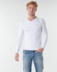 vaatteet Miehet T-paidat pitkillä hihoilla Kaporal VIFT Musta-valkoinen