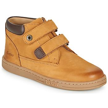 kengät Pojat Bootsit Kickers TACKEASY Kamelinruskea / Ruskea
