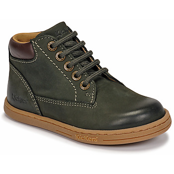 kengät Pojat Bootsit Kickers TACKLAND Kaki