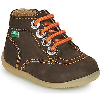 kengät Pojat Bootsit Kickers BONZIP-2 Brown / Orange