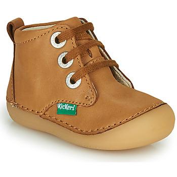 kengät Lapset Bootsit Kickers SONIZA Kamelinruskea
