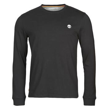 vaatteet Miehet T-paidat pitkillä hihoilla Timberland LS Dunstan River Tee Black