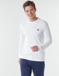 vaatteet Miehet T-paidat pitkillä hihoilla Timberland LS Dunstan River Tee White