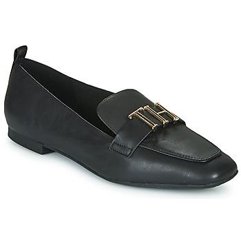 kengät Naiset Mokkasiinit Tommy Hilfiger POLISHED TOMMY LOAFER Musta