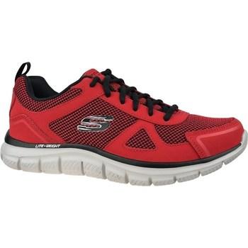 kengät Miehet Matalavartiset tennarit Skechers Track Bucolo Mustat,Punainen