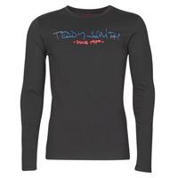 vaatteet Miehet T-paidat pitkillä hihoilla Teddy Smith TICLASS BASIC M Black
