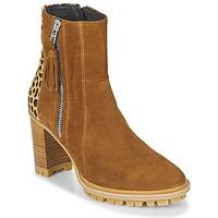 kengät Naiset Nilkkurit Philippe Morvan LOKS V1 VELOURS CAMEL/LEOP Ruskea / Leopardi