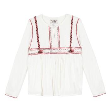vaatteet Tytöt Topit / Puserot Chipie 8R12014-19 White