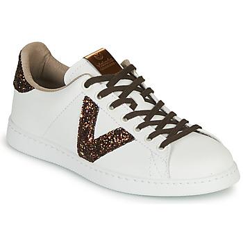 kengät Naiset Matalavartiset tennarit Victoria TENIS PIEL VEG White / Brown