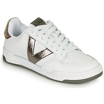 kengät Naiset Matalavartiset tennarit Victoria CRONO PIEL White / Bronze