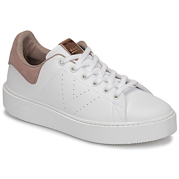 kengät Naiset Matalavartiset tennarit Victoria UTOPÍA PIEL VEG White / Pink
