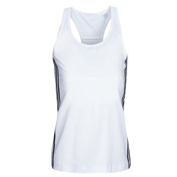 vaatteet Naiset Hihattomat paidat / Hihattomat t-paidat adidas Performance W D2M 3S TANK Valkoinen