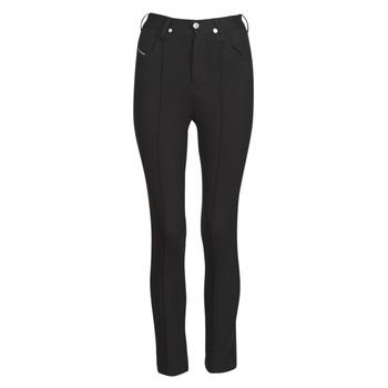 vaatteet Naiset 5-taskuiset housut Diesel P-CUPERY Musta